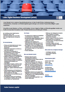 Leiter Digital Business Development hhc