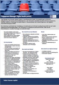 Engagement Manager Digital Health hhc