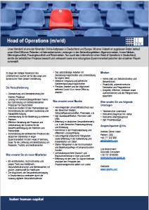 Head of Operations Digital Healthhhc