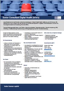 Senior Digital Health Consultant